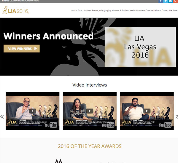 LIA AWard site
